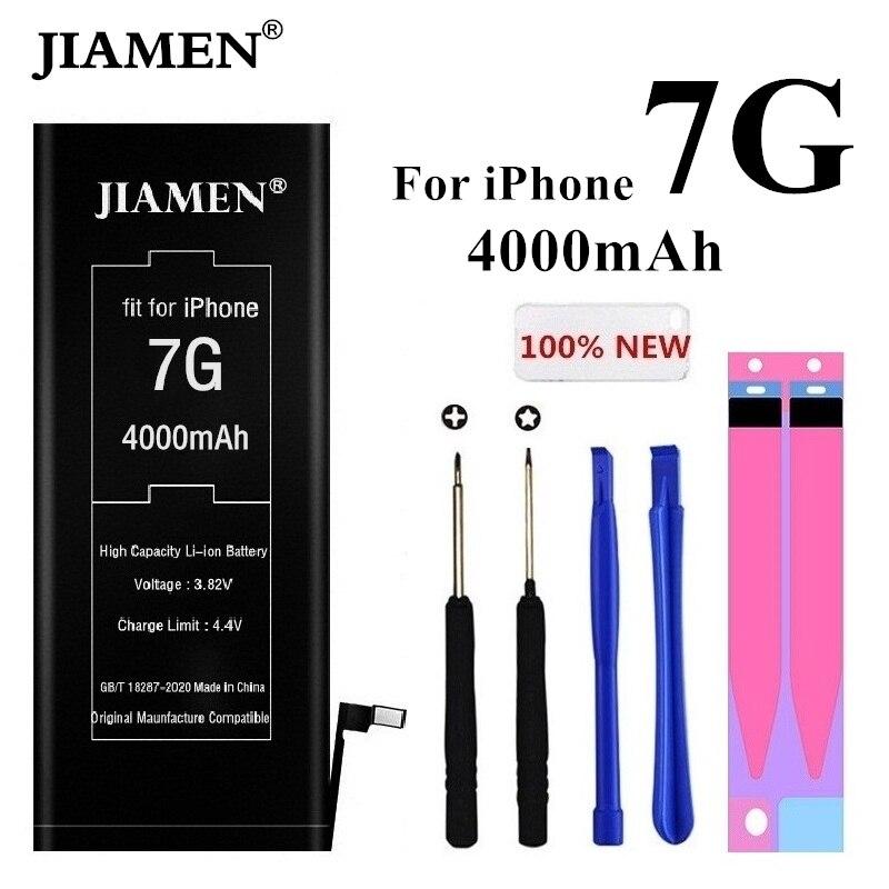 Bateria de alta capacidade 4000mah para iphone 7 bateria para iphone7 para iphone 7g para iphone7g baterias ferramentas + adesivo