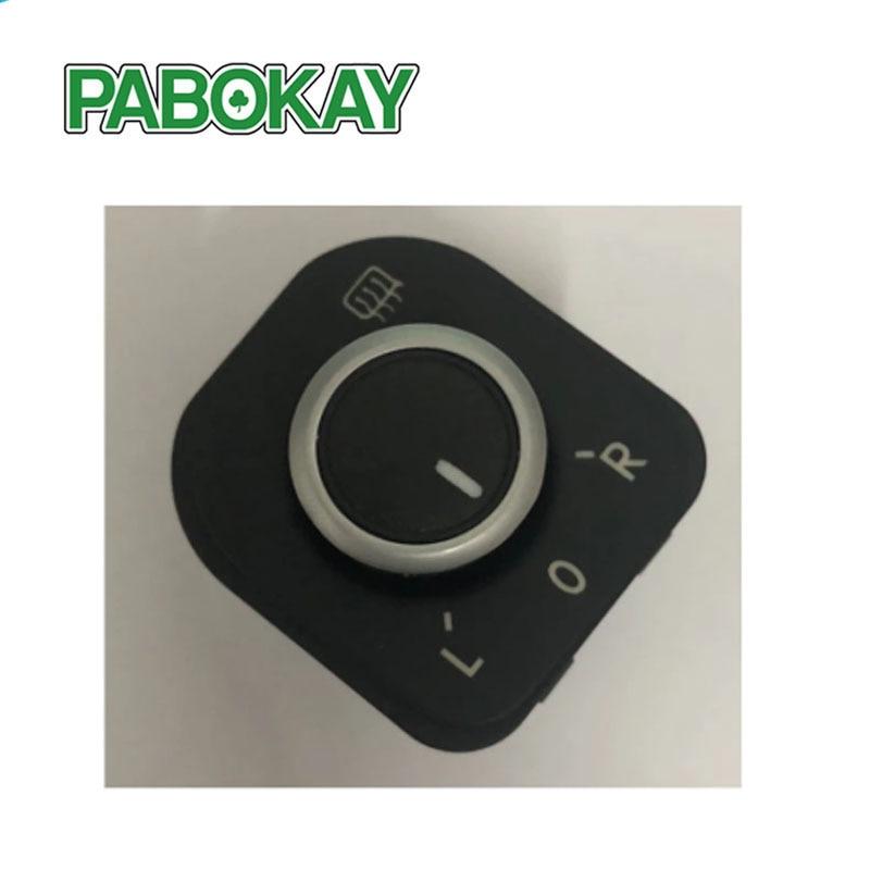Botón de ajuste de espejo lateral cromado para Jetta MK5, Golf, MK6,...