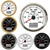 Marine Auto 0-35MPH GPS Speedometer Gauge 85MM Digital LCD Speedometer Gauge Boat Car 0-55KM/H GPS Odometer Gauge fit 9~32V