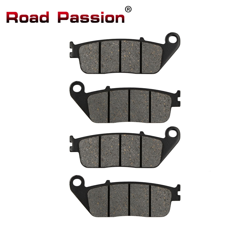 Road Passion Motorcycle Front Brake Pads for HONDA NV400 Steed 95-97 XR400 XR 400 Supermotard VT600 Shadow ST1100 CBR1000F