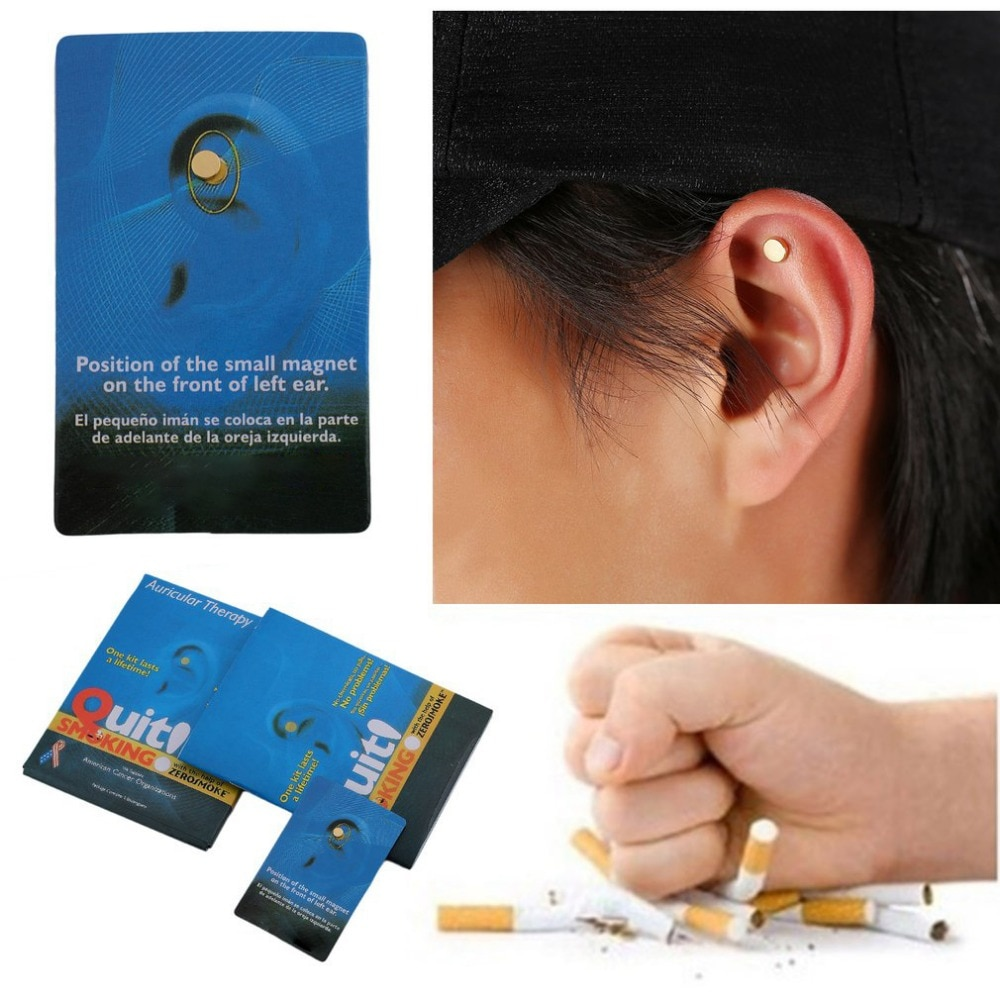 Pro 2pcs/pack Magnet Quit Smoking Acupressure Patch NO Cigarette Health Therapy Stop Smoking Anti Smoke Patch Smokeless Smoker