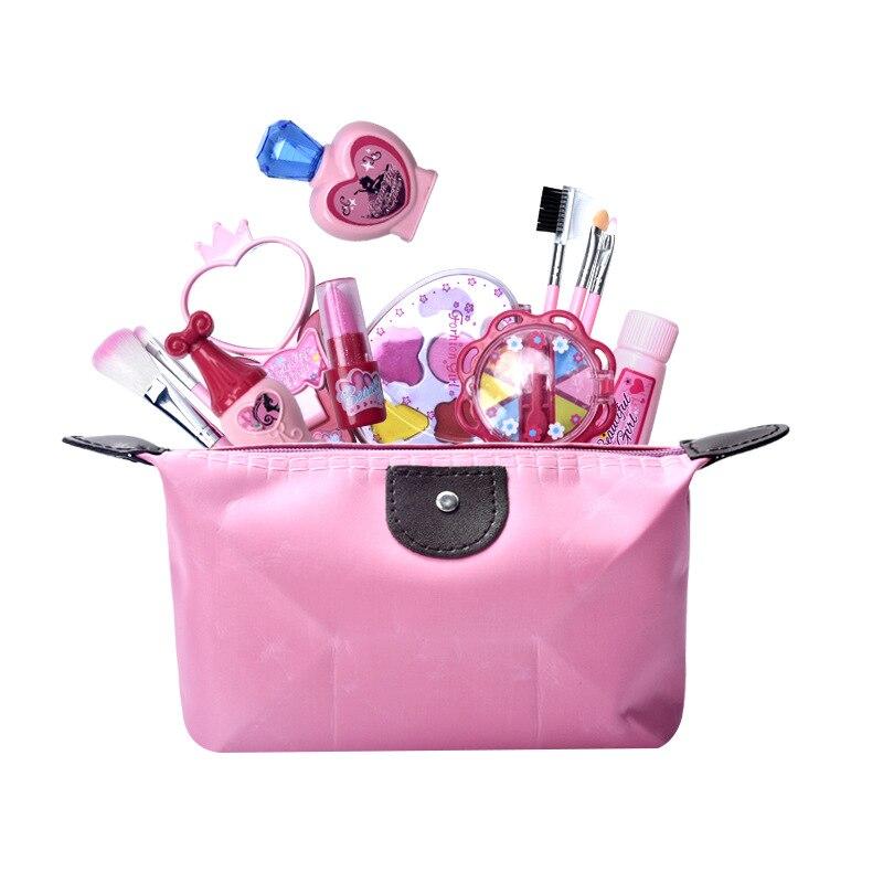 Set de maquillaje para niños, juego de simulación de belleza, bolsa de cosméticos para niños, Juguetes educativos de Aprendizaje Temprano de bebé para niñas