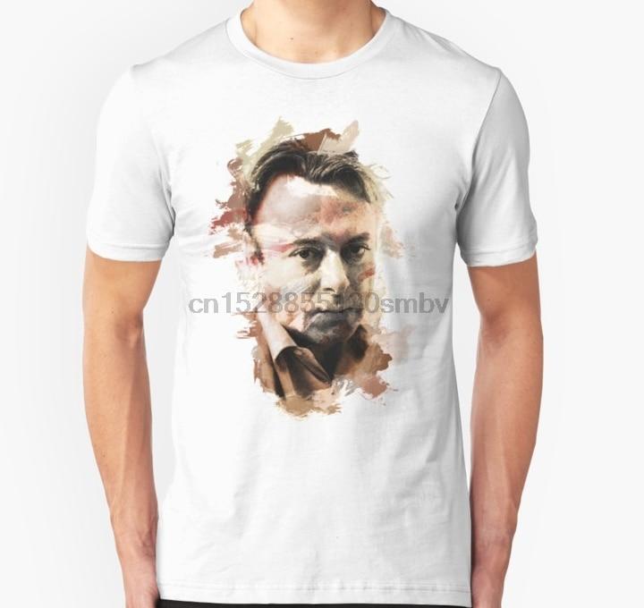 Camiseta de hombre pintura Stroked retrato de Cristóbal Christopher Hitchens Unisex camiseta de Mujer Camisetas Camiseta top
