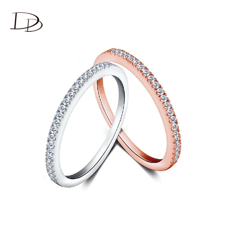 DODO-Anillo de compromiso minimalista para Mujer, sortija de acero inoxidable, Accesorios, Color...