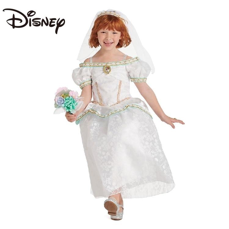 Disney Little Mermaid Ariel Luxury Wedding Princess Dress Bouquet Ring Set Ball Gown long skirts for women skirts for women