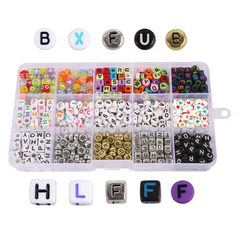 750pcs Letter Acrylic Beads Round Flat Alphabet Digital Cube Loose Spacer Bead For Jewelry Making Handmade Diy Bracelet Necklace 6 14mm candy color ab acrylic round beads 20 300pcs loose spacer seed beads for jewelry making handmade diy bracelet necklace