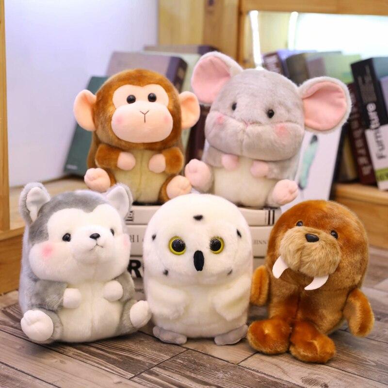 Animal de peluche redondo para decoración de habitación de niños, juguete de...