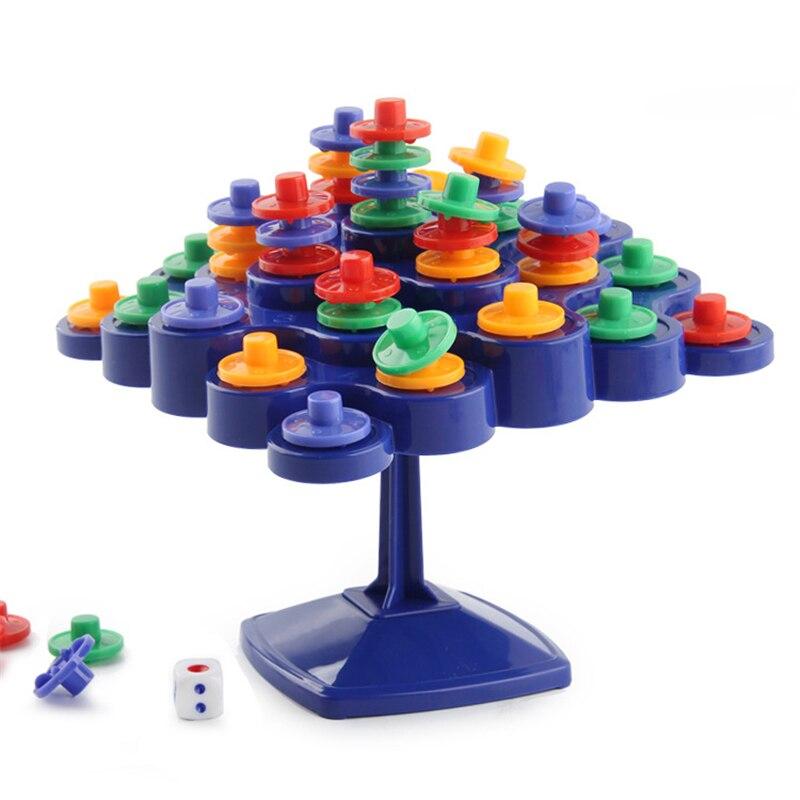 Tablero de apilamiento de mesa giratoria de equilibrio para la actividad de padres e hijos que impulsa a los niños IQ juguetes para niños juegos de fiesta de regalo