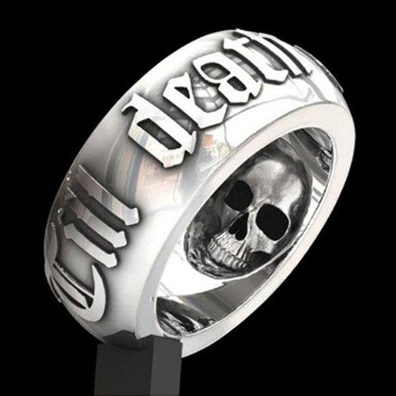 Anillos de calavera góticos vikingos para hombre, anillos de fiesta de Color oro blanco Retro, los mejores regalos para amigos