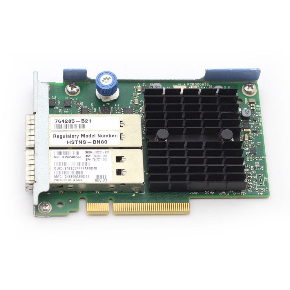 Puerto Dual 10 Gigabit tarjeta de red de fibra óptica para HP GEN G8 G9 40GB 544 FLR QSFP 764285-B21