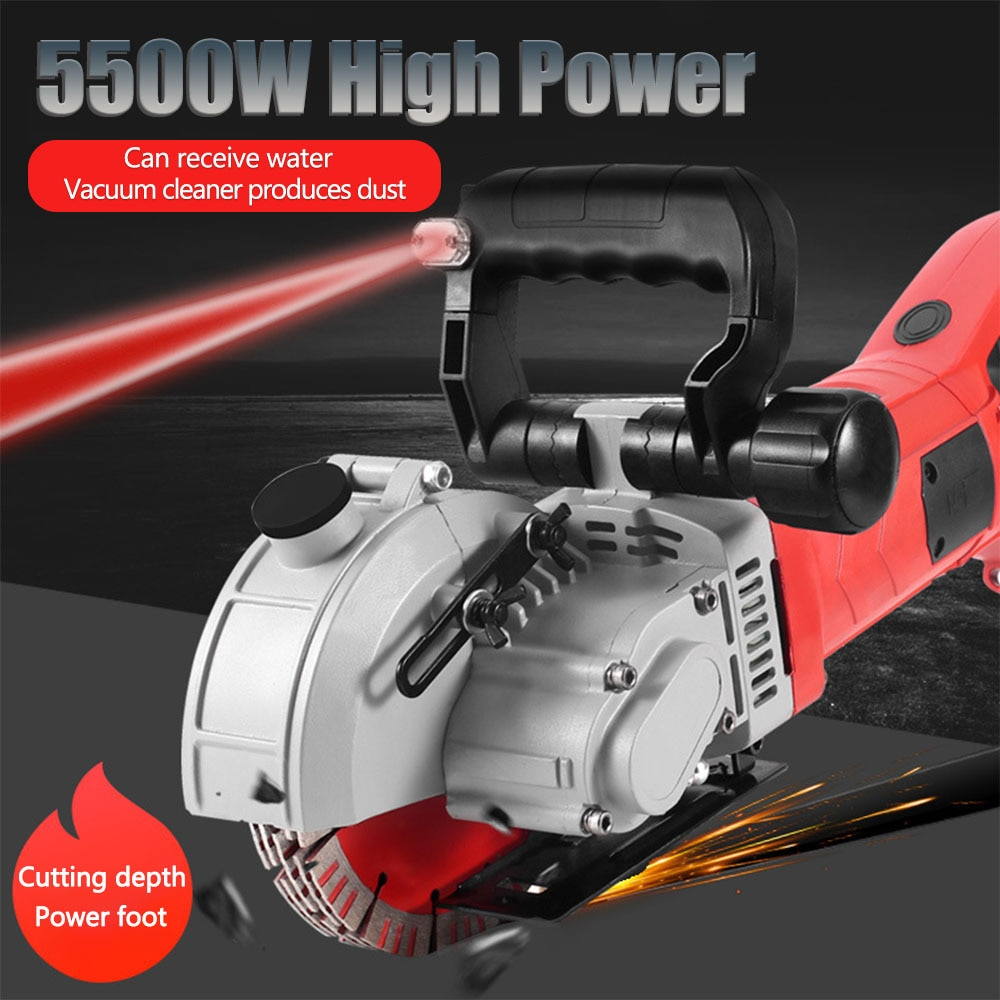 Groove Grooving Chaser Cutting Cutter 40mm Electric Wall Slotting Machine 5500W