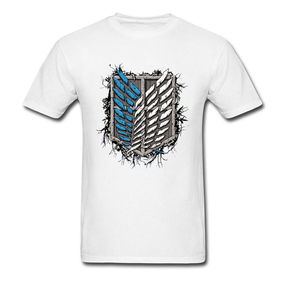 Camiseta con estampado de Titan de algodón de los hombres, camiseta ajustada...