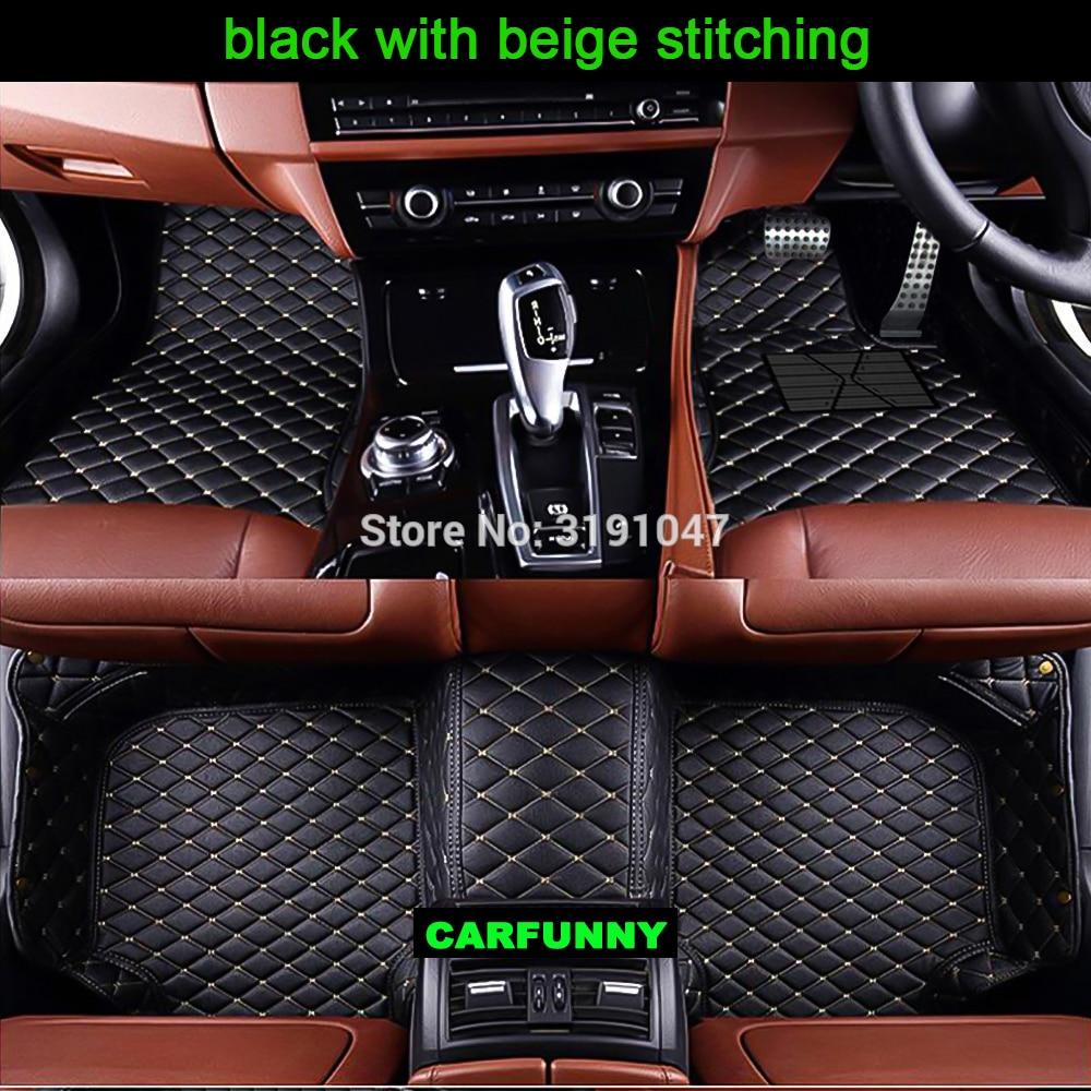 CARFUNNY Right hand drive car floor mats for range rover l322 range rover sport audi a6 c6 w212 kia k7 2114