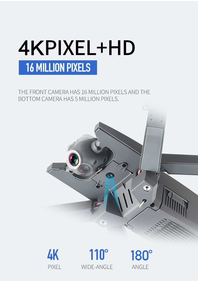 2020 NEW 4K HD Drone Optical Flow Positioning Wide Angle HD Dual Camera 1080P  WiFi FPV Drone RC Quadcopter Folding RC Drone enlarge