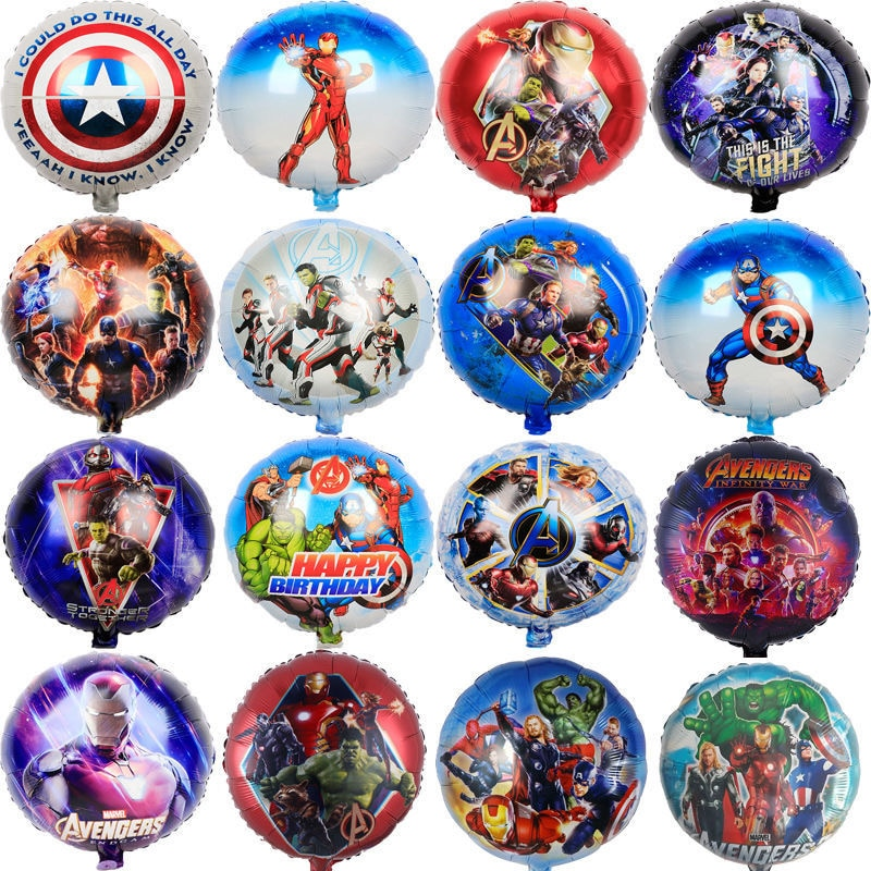 5Pcs Avengers Super Heroes Spiderman Balloons Boys Birthday Parties Decoration Marvel Spideman Party Children Toys