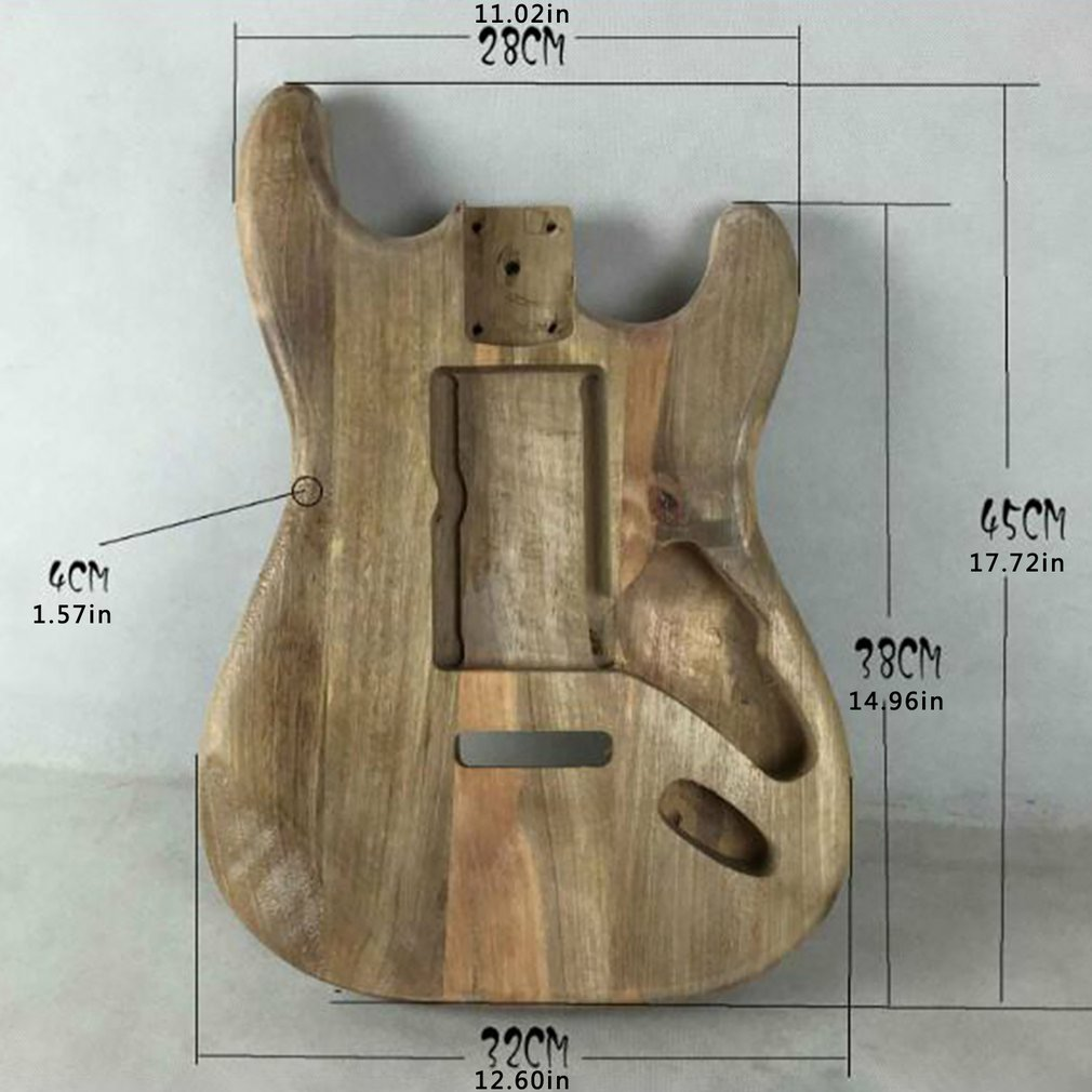 Unfinished DIY Guitar Body Maple Body For ST Style Guitar ST electric guitar body alderwood guitar DIY Accessories Upgrade enlarge