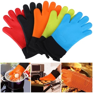 Silicone Oven Gloves Grilling Gloves Baking Gloves Heat Resistant Kitchen BBQ