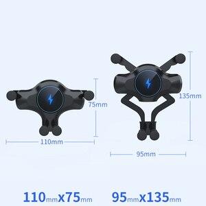 Image 5 - 10 Вт автомобильное беспроводное зарядное устройство для iPhone 12 11 Pro Max XS XR X Автомобильное гравитационное крепление для Samsung S21 Note 20 Ультра зарядное устройство держатель для телефона