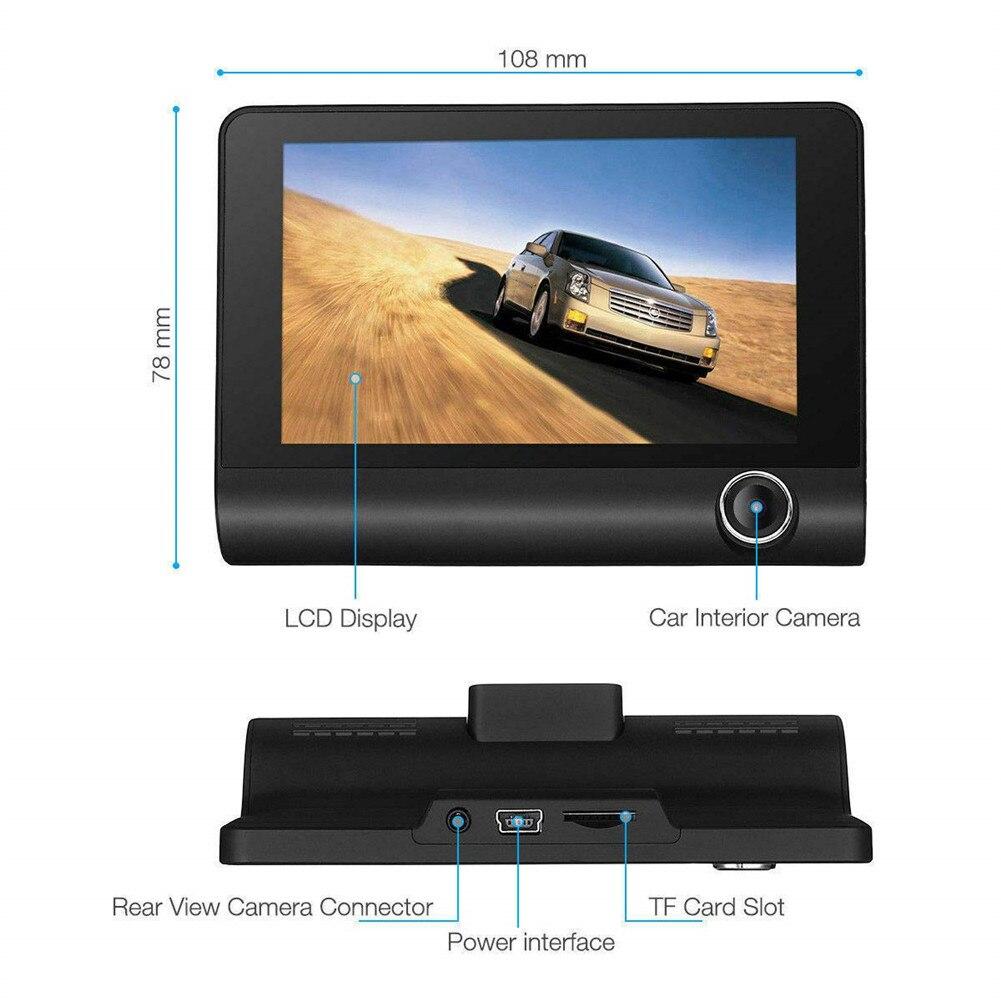 Dash Cam 1080P Full HD DVR Вождение автомобиля Регистраторы 4