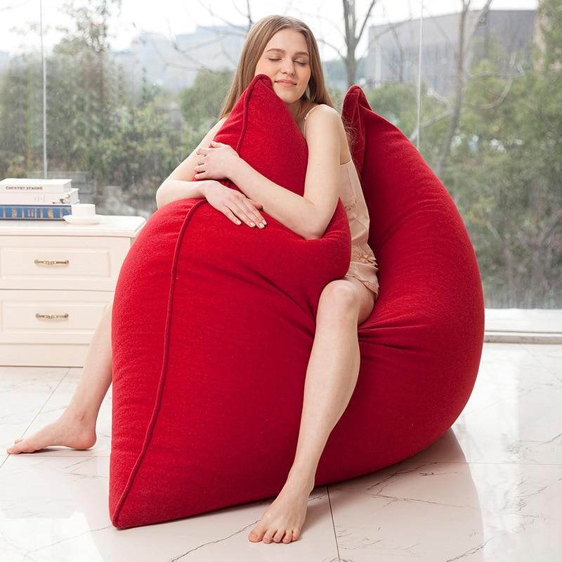 جودة متوسطة كبيرة كرسي خشب الصندل نفخة أريكة حقيبة منفوخة للنوم في البحر كيس الفول تاتامي للبالغين