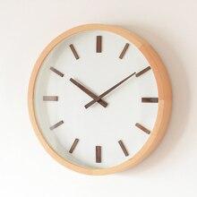 Digital Simple Wall Clock Silent Living Room Nordic Modern Design Wall Clock Wood Mute Minimalist Reloj Pared Home Decor AD50WC