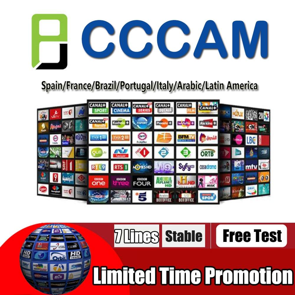 Rápida y estable CCcams Europa 7/6/8 Línea 1 año cccam cline para Samsat Starsat Satellite TV receptor a través de usb wifi remote count