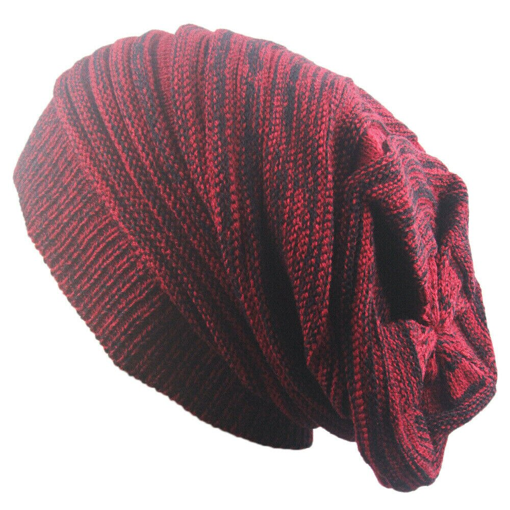 Мужская и женская шапка смешанных цветов хлопок в полоску Хип-хоп зимняя теплая шапка шарф шапка вязаная длинная свободная шапка Gorro головн...