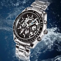 ik colouring men watch luxury brand mechanical watches skeleton male clock full steel fashion casual automatic watch 98005g