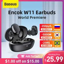 World Premiere Baseus W11 TWS Bluetooth Earphones Bluetooth 5.0 Wireless Headphones Waterproof, Support wireless charging