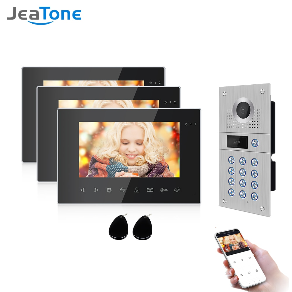 Jeatone Wirless WIfi Video Door phone Wired Door Intercom for Home Video Intercom Support Motion Detect Record Door Camera