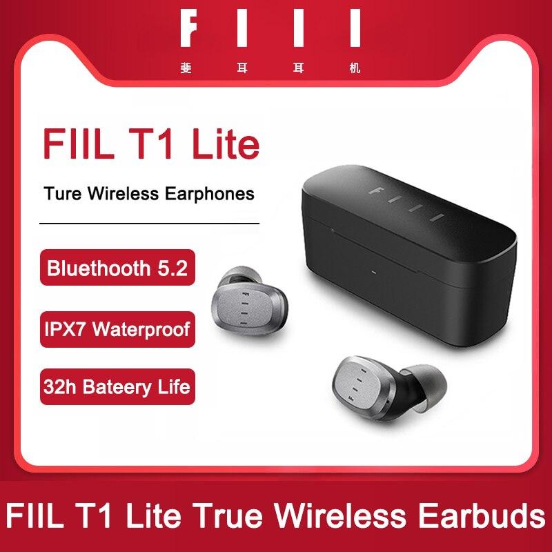 Redução de Ruído Fone de Ouvido Fones de Ouvido Original Fiil Lite Cc2 Tws Ture Wireeless Bluetooth 5.2 Esportes t1 T1xs