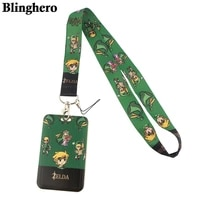 cb425 game figure lanyard credit card id holder bag student women travel card cover badge car keychain fashion accessories