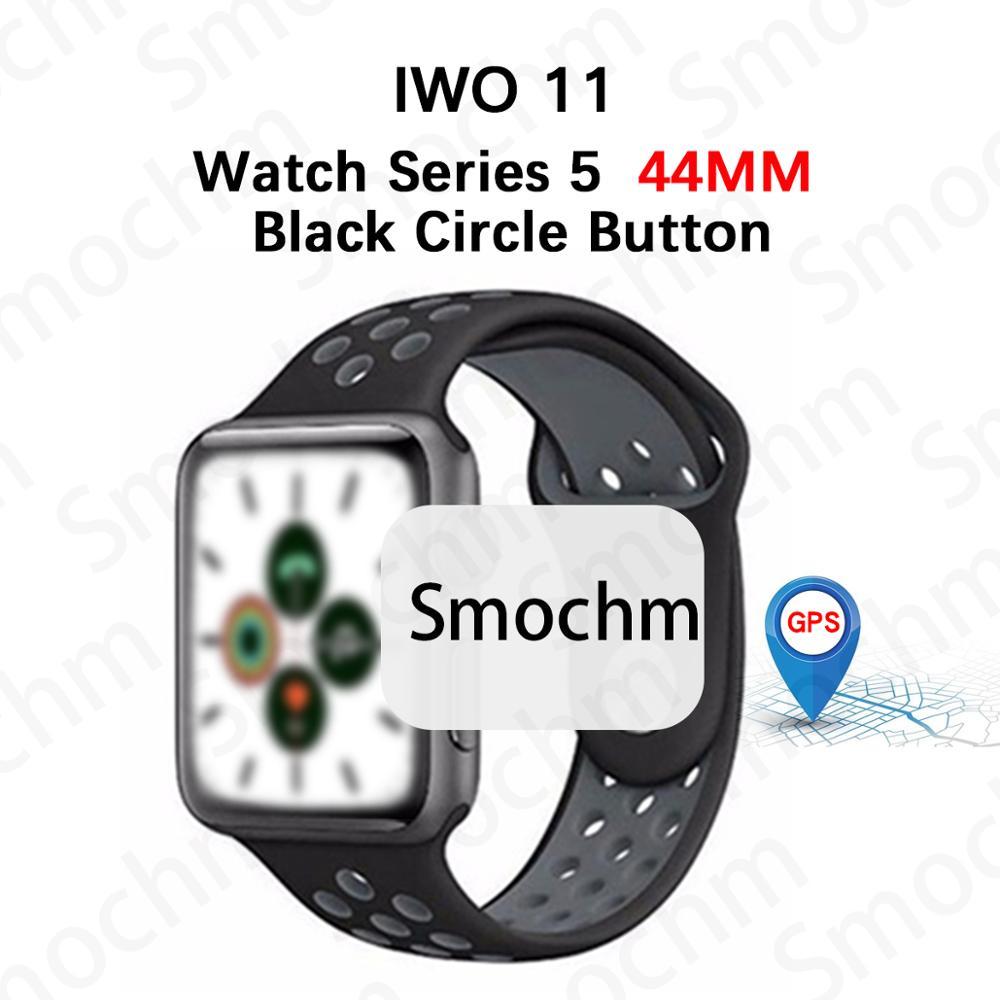Smochm Samba IWO 11 Pro Bluetooth Smart GPS Watch Phone Series 5 44mm 1:1 VS IWO 10 9 MTK2503 Smartwatch for iOS iPhone Android