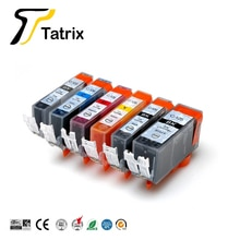Tatrix 6 pièces cartouche dencre Compatible PGI-125 CLI-126 PGI125 pgi 125 pour Canon PIXMA IP4810/IP4910/IX6510/MG5210/MG5310/MG6110