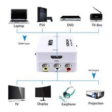 Convertisseur HDMI vers RCA AV/CVSB L/R boîtier vidéo HD 1080P 1920*1080 60Hz HDMI2AV prise en charge de la sortie NTSC PAL HDMI vers AV en gros