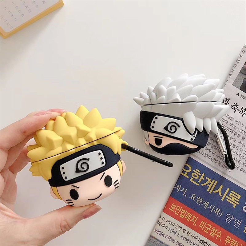 AirPods 1 2 Anime Cute Case Charging Box Soft Silicone Wireless Bluetooth Earphone protective Cover