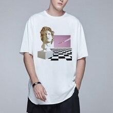 Vaporwave Mannen T-shirt De Grote Retro Golf Streetwear Harajuk Hiphop David Sculptuur Esthetische Nieuwigheid Art Mannen Tops T-stuk