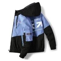 mens windbreaker jackets printed korean hooded water proof wind breaker casual coat male clothing 2021 autumn jackets l 4xl