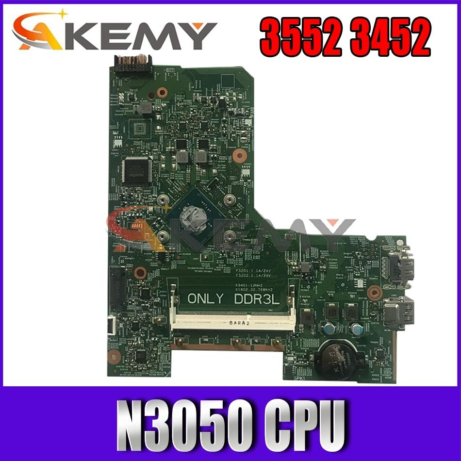 Akemy 14279-1 لأجهزة الكمبيوتر المحمول DELL Inspiron 3552 3452 اللوحة الأم N3050 CPU PWB 896X3 CN-0WGR7P WGR7P اللوحة الرئيسية 100% تم اختبارها