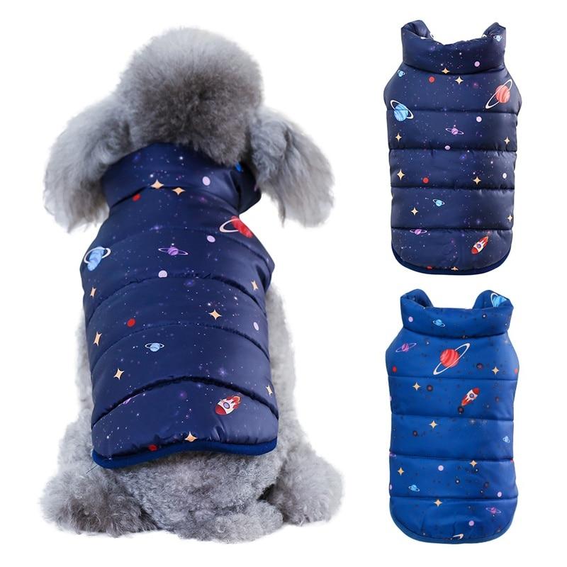 Chaqueta de estilo británico con cuello de piel, abrigo cálido para perros...