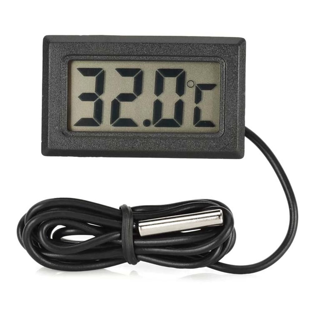 Mini termômetro refrigerador digital lcd, sensor profissional de temperatura do refrigerador