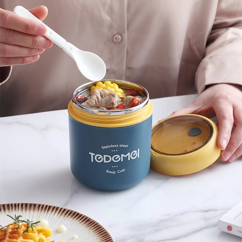 High Quality Food Thermos,304 Stainless Steel Lunch Box,530ml, Insulated Container Business Portable Picnic, Noodles
