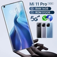 7 3inch left digging screen 5g smartphone with 16gb512gb large memory for xiaomi 11 pro cellphone huawei samsung mobile phone