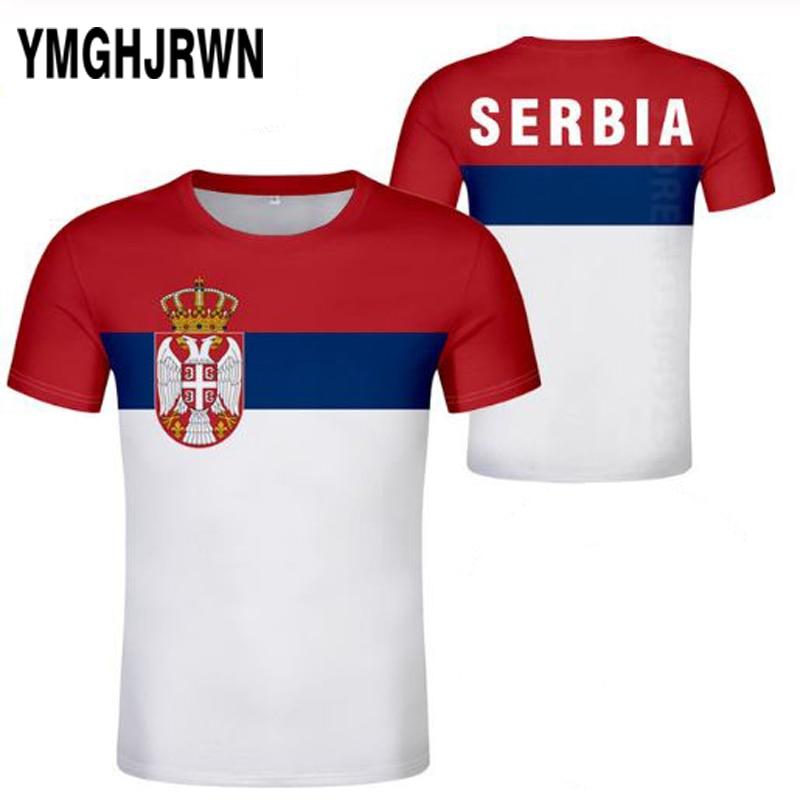 SERBIA republic male youth custom made name number srbija SRB t-shirt srpski nation flag serbien college print photo clothes