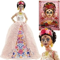 barbie signature dia de muertos 2020 doll 12 in brunette in embroidered lace dress and flower crown with authenticity gnc40
