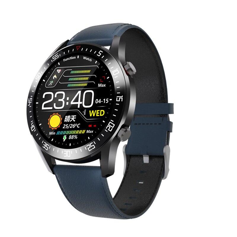 Reloj inteligente Trzoum c2 ip68 resistente al agua, reloj inteligente con control del ritmo cardíaco, pantalla táctil redonda y control de la presión arterial para hombres y mujeres