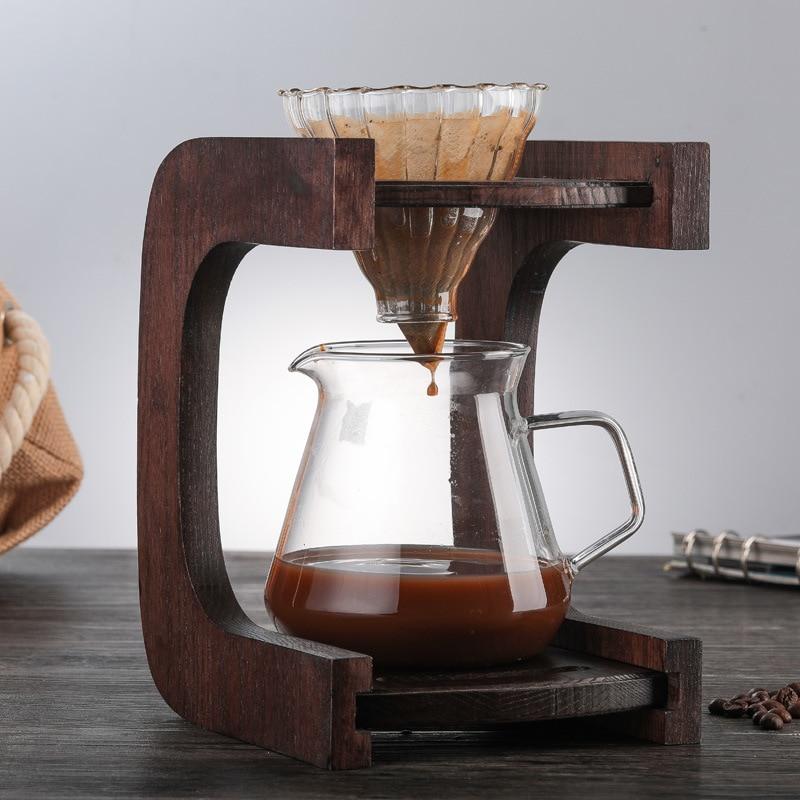Ecocoffee V60 Pour Over Glass Range кофейный сервер 400/600 мл карамельный капельный кофейник Brewer Barista Percolator Clear