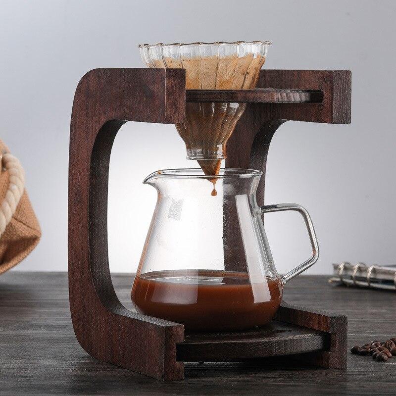 Ecocoffee V60 vierte sobre el servidor de café de la gama de cristal 400/600ml jarra de café de goteo jarra de café Brewer Barista Percolator Clear