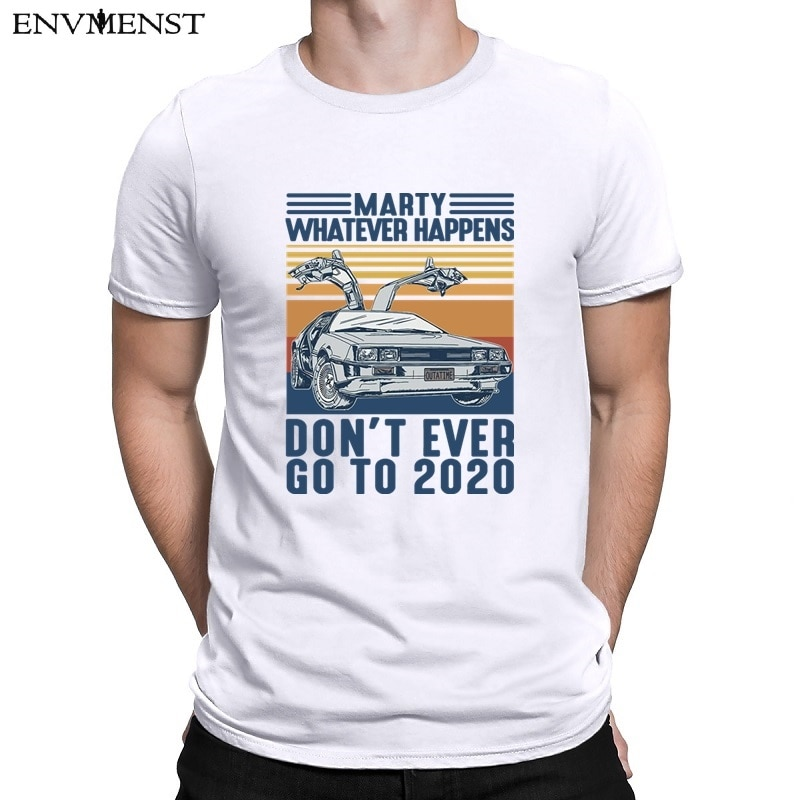 aliexpress - Envmenst 100% cotton t-shirt marty whatever happens don't ever go to 2020 men's short-sleeve off white men clothing tops tees