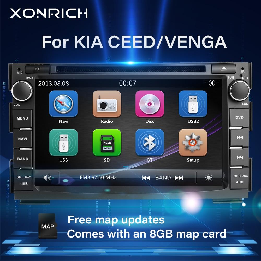 Reproductor de DVD para coche con Radio de 2 din para Kia Ceed 2010 2011 2012, unidad principal de Audio estéreo con GPS Multimedia Glonass